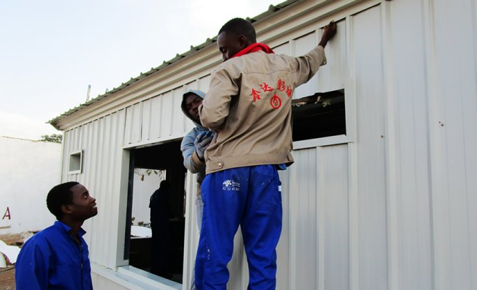 Mozambique poultry shed has been finished