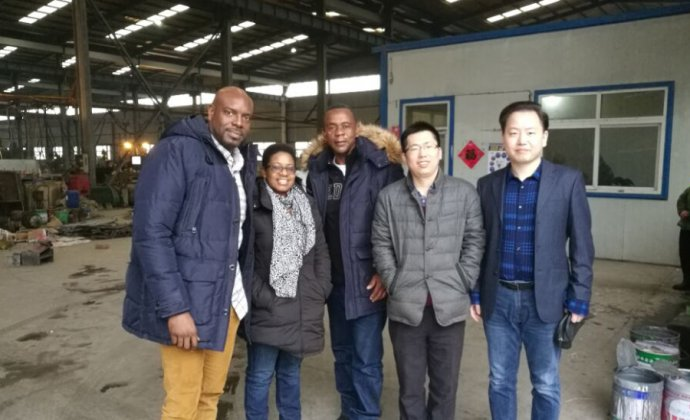Jamaica customer visit our factory and pay cash at site